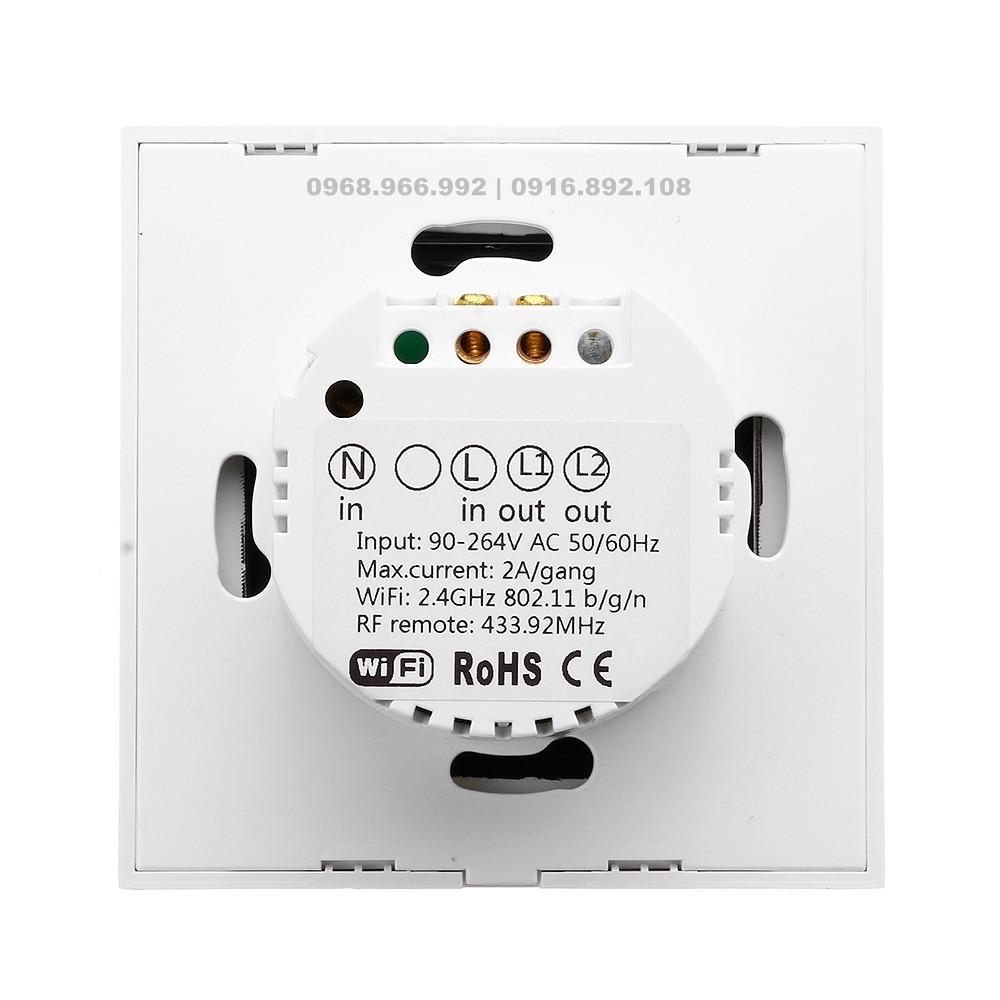 Công tắc cảm ứng âm tường SONOFF® T1 EU 8