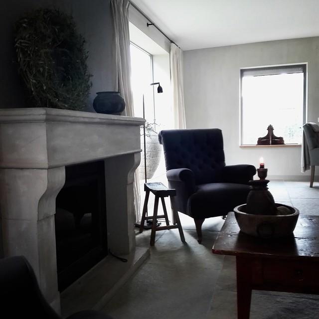 Bourgondische dallen woonkamer landelijk