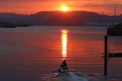 Hacia la puesta de sol...