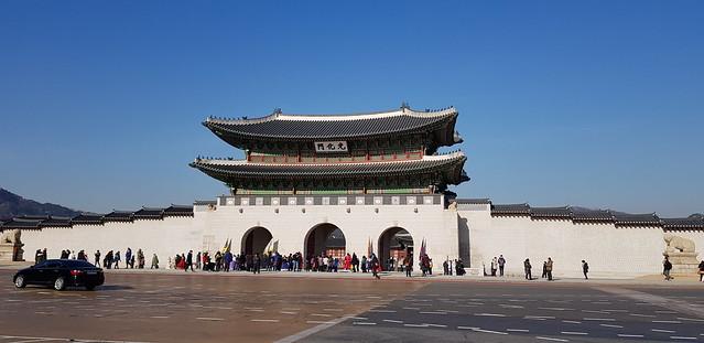Gyeongbokgung Palace Gate, Gwanghwamun Plaza, Seoul, Korea