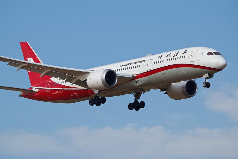 Shanghai Airlines Boeing 787-9 B-1113