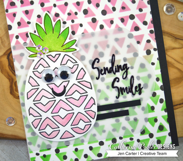 Jen Carter Pineapple and Smiles - Wild Thing - Wonky Triangles Closeup