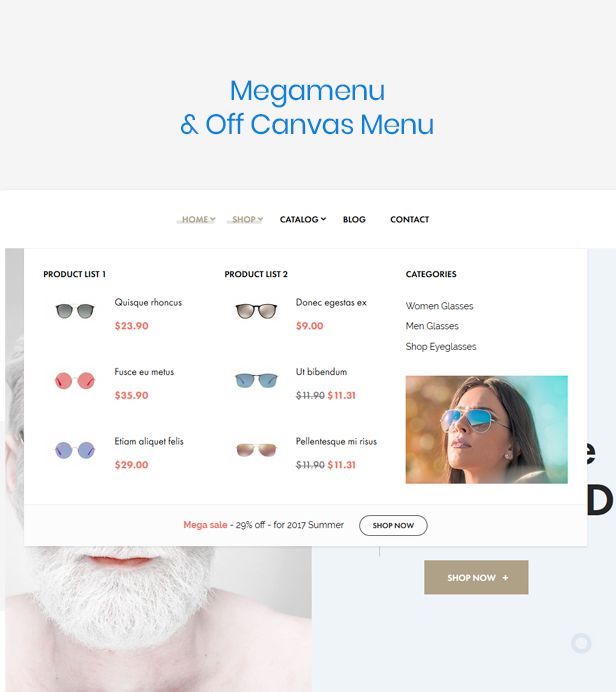 At Glasses Fashion Premium Prestashop Theme - Powerful Megamenu & Off canvas menu