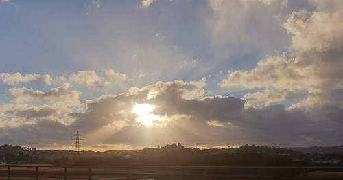 sky skychasers awesome aweinspiring sunset sunlight sunrisesunsets sunshine clouds bright brilliant stunning pylon fields
