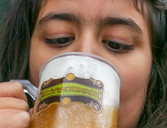 Drinking Butterbeer!