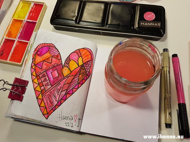 Church window heart painted by iHanna