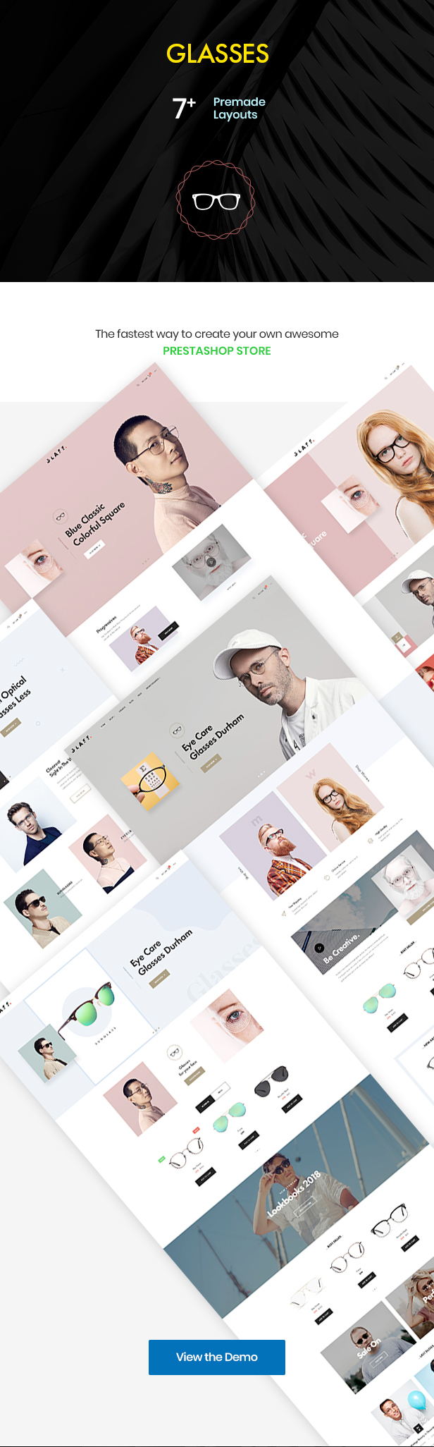 At Glasses Fashion Premium Prestashop Theme - Spectacles & Accessories