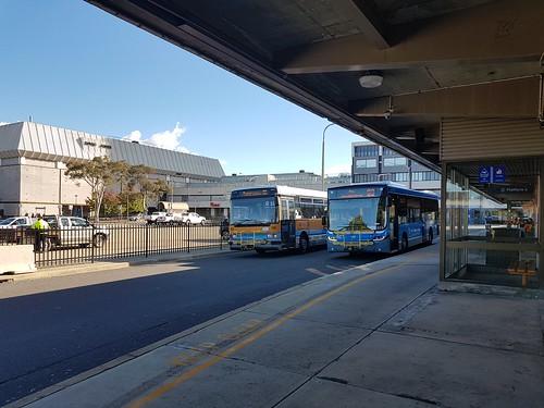 Bus 653 & 122 in the Woden Bus Interchange