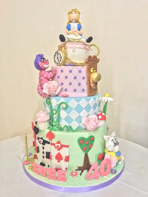 Alice in Wonderland Theme Cake from Marisse Gian Sta. Cruz of Sweet Confectionery by Marisse