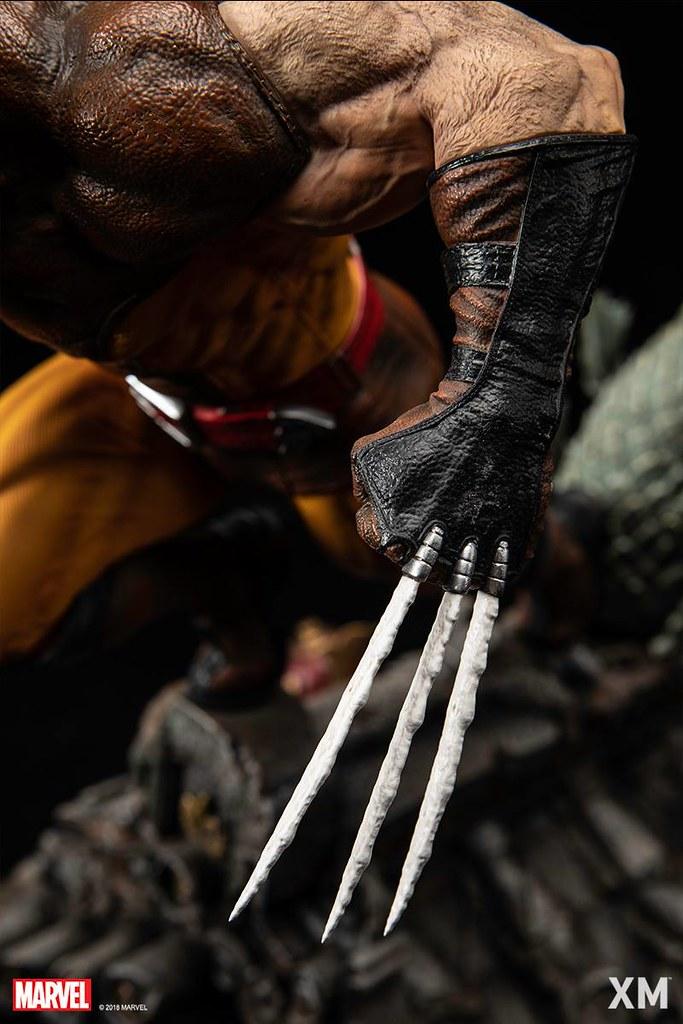 XM Studios Premium Collectibles 系列 Marvel【金鋼狼 褐色戰衣版】Wolverine Brown Suit 1/4 比例全身雕像作品