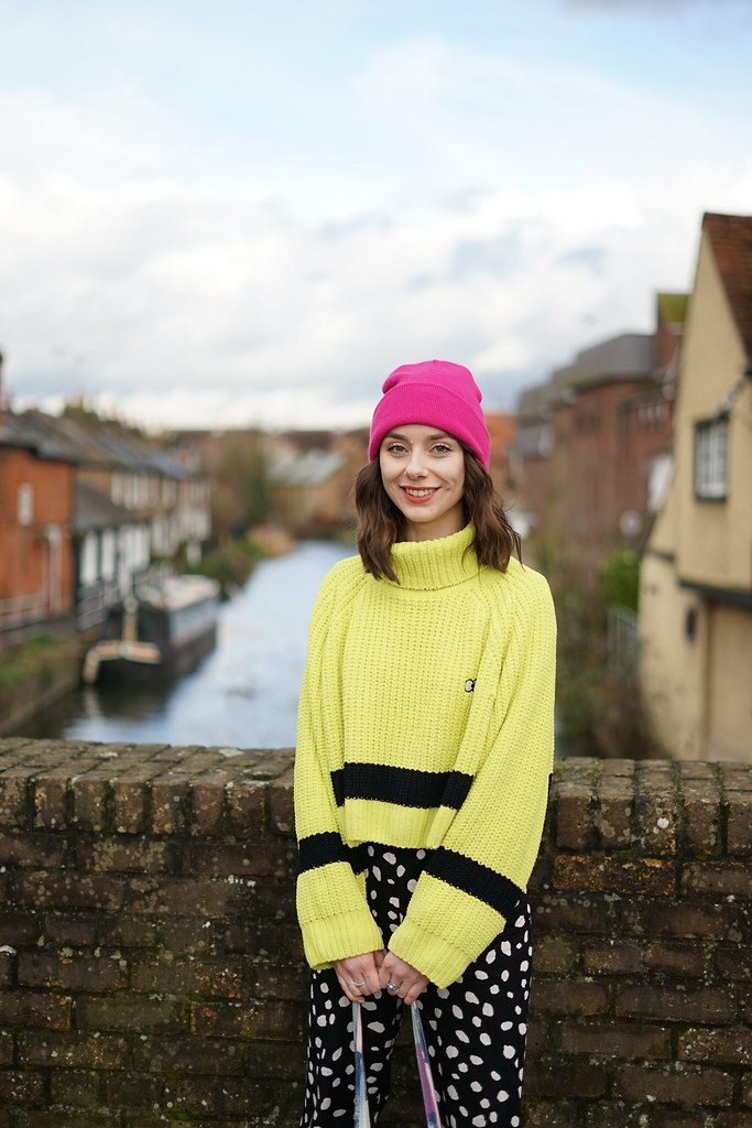 Lazy Oaf Lime Knit & Collusion spotty trousers 1