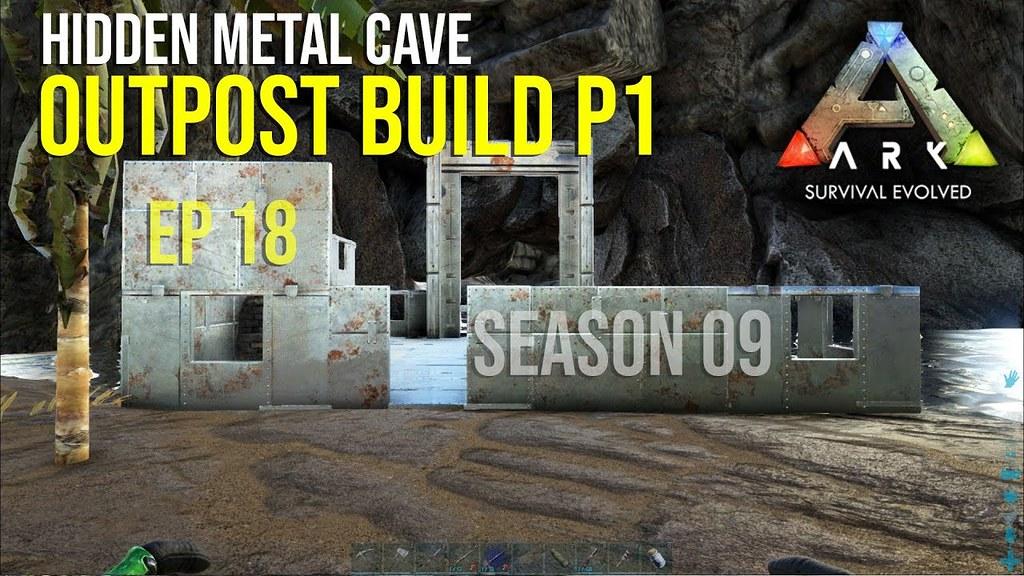 ARK Survival Evolved Ragnarok Metal Cave Outpost Part 01