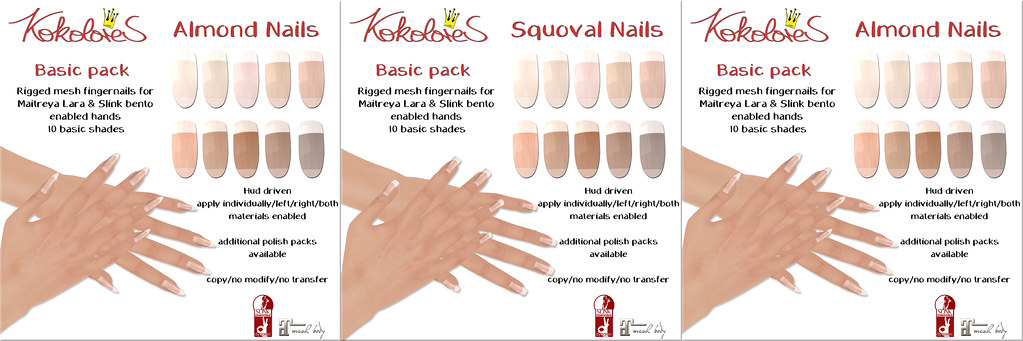 [KoKoLoReS] Basic Nails packs