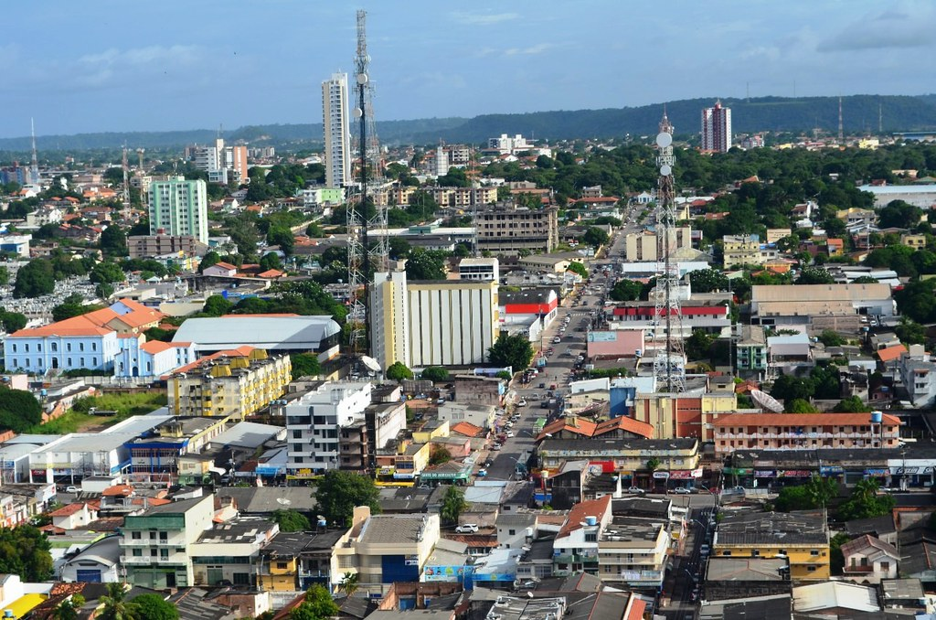 Vista aérea da Travessa Silvino Pinto, em Santarém, no registro de Juan Azevedo, olhar do leitor - travessa Silvino Pinto, em Santarém (PA). Foto - Juan Azevedo
