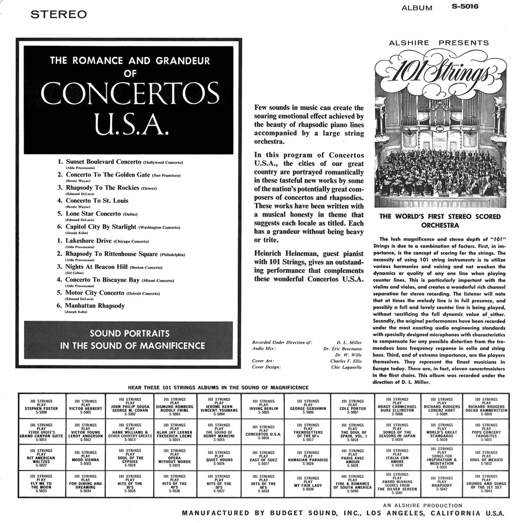 101 Strings ‎– Concertos USA