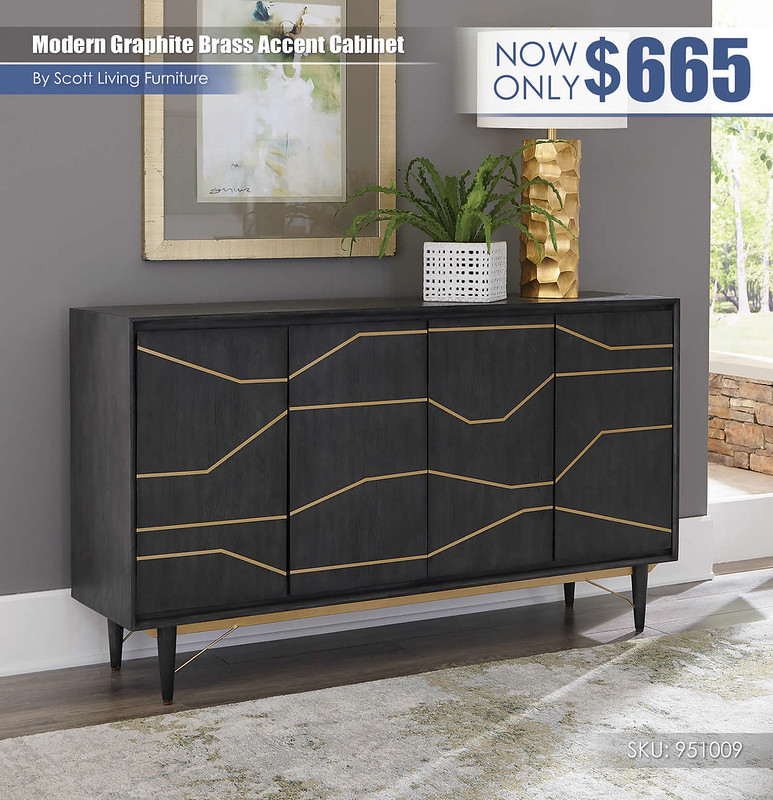 Modern Graphite Brass Accent Cabinet_Scott Living_951009