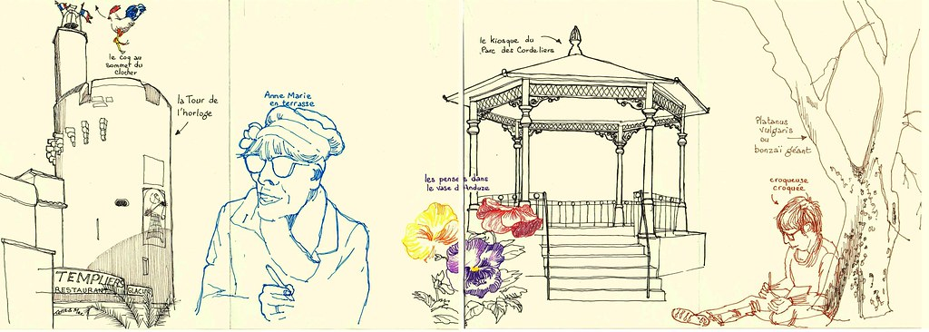 rencontre Urban Sketchers Cévennes à Anduze