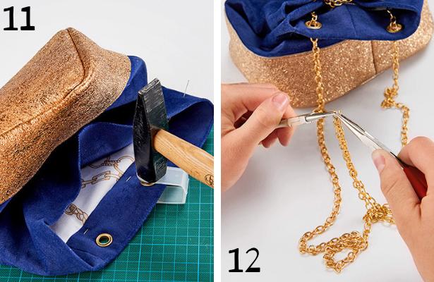 Blue Purse DIY STEPS 11 12