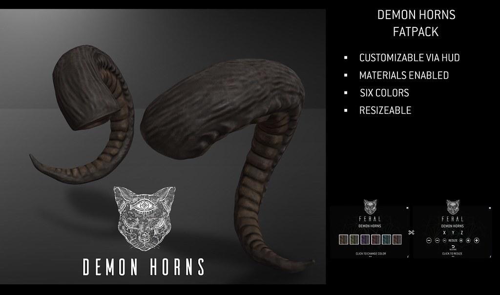 Feral - Demon Horns - TeleportHub.com Live!