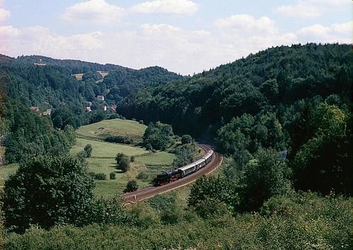 50 622 bei Deinsdorf auf der Pegnitztalbahn 1985