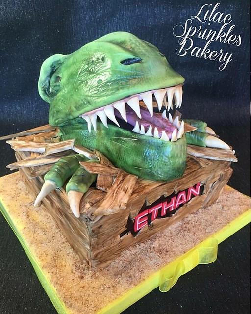 Jurrasic Park Cake by Lilac Sprinkles Bakery
