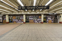 JBL Subway wrapped on Time Square Shuttle