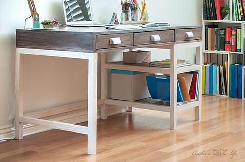 DIY Meubles and Relooking : DIY Modern Farmhouse Desk (Plans et vidéo