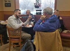 Rep. Davis hosted legislative coffee hours in Ellington at the  Chuck Wagon Restaurant