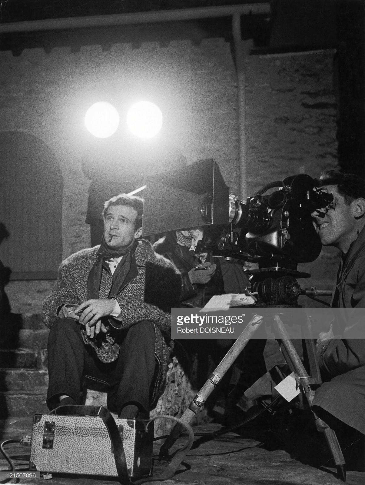 1960. Франсуа Трюффо на съемках фильма «Стреляйте в пианиста»