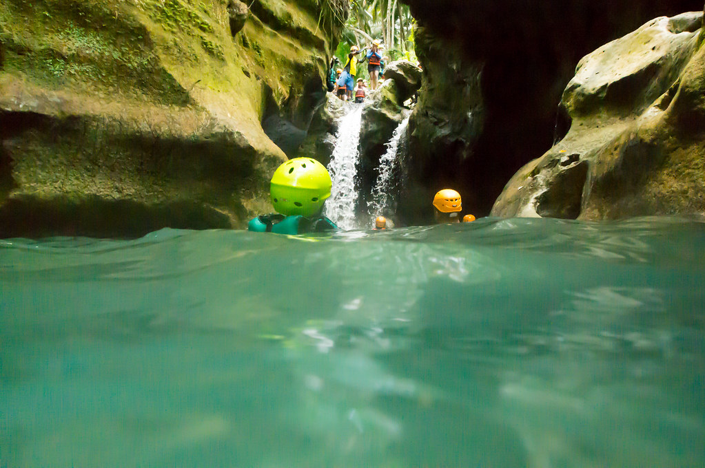 Pumping adrenaline to jump the waterfalls in canyons
