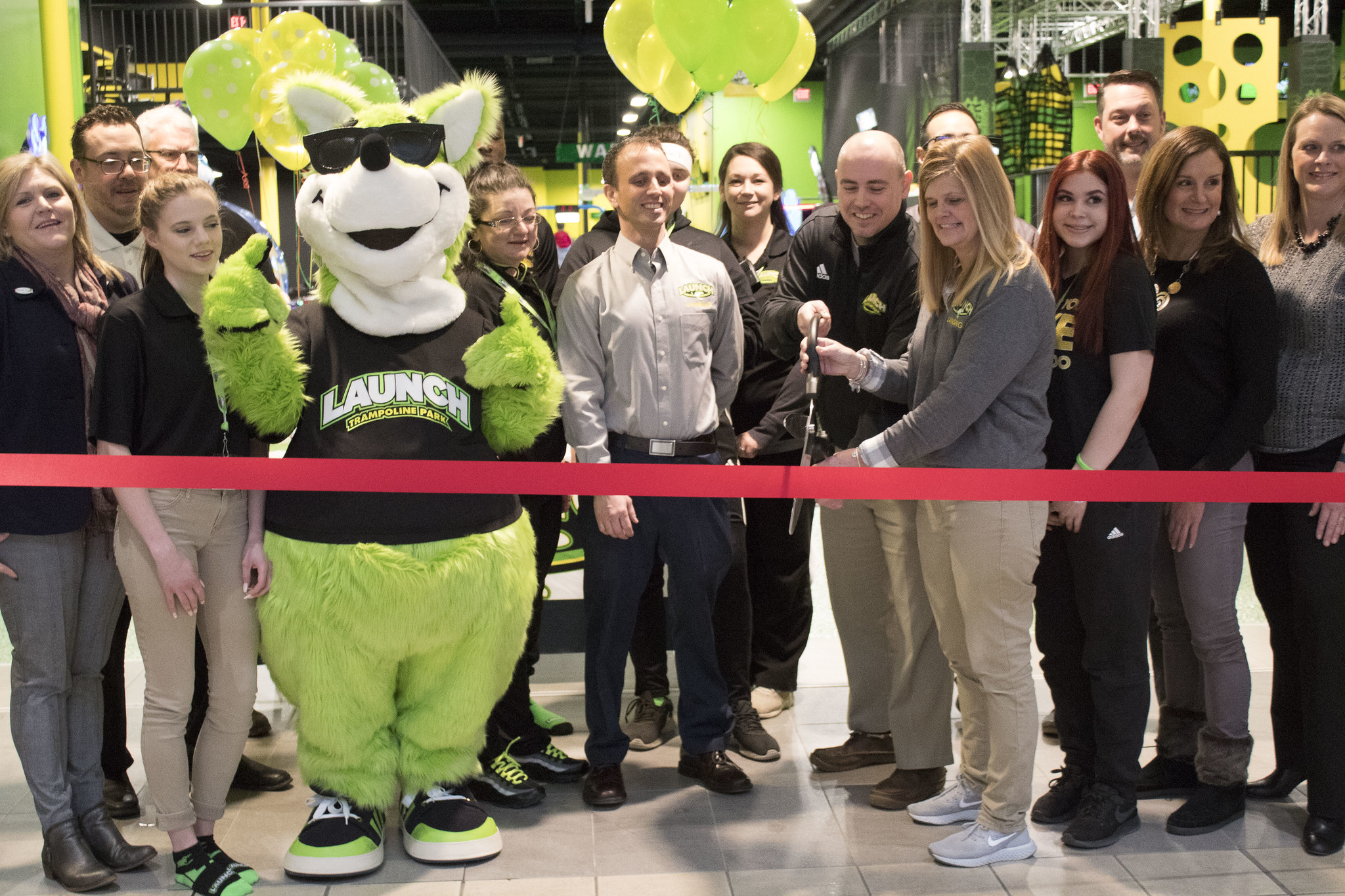 Ribbon Cutting Ceremony at Launch Trampoline Park