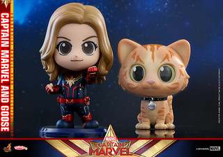 Goose 超萌的啦~ Hot Toys - COSB541、COSB546 -《驚奇隊長》驚奇隊長 Captain Marvel Cosbaby (S) Bobble-Head