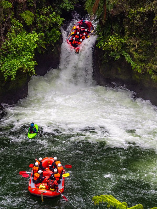 Best things to do in New Zealand: Rafting down Okere Falls in Kaituna River, Rotorua
