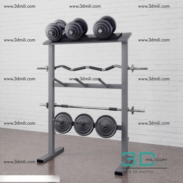26 Gym equipment 3dsmax File Free Download - 3D Mili