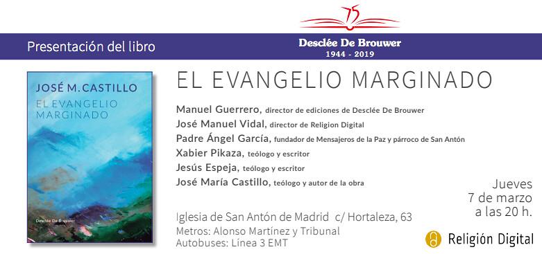 Invitación a la presentación de El Evangelio marginado
