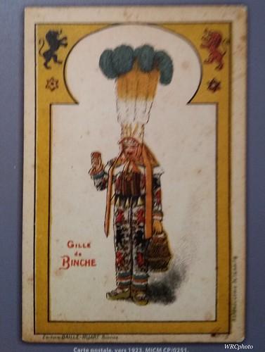 Gilles de Binche. carte postale 1923.