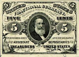 Spencer Clark 5 cent franctional note
