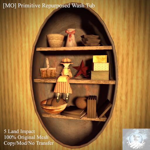 [MO] Primitive Re-purposed Wash Tub - TeleportHub.com Live!