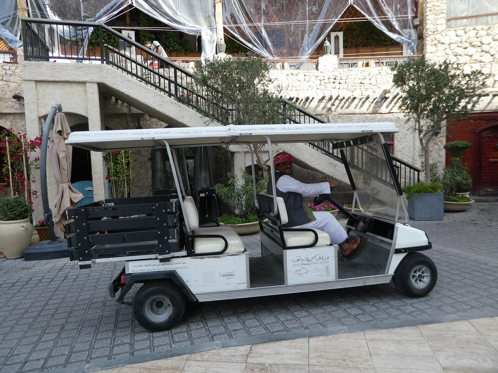 Courtesy club car at the Souq Waqif Boutique Hotel, Doha