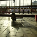 Shadows and light at Preston railway station