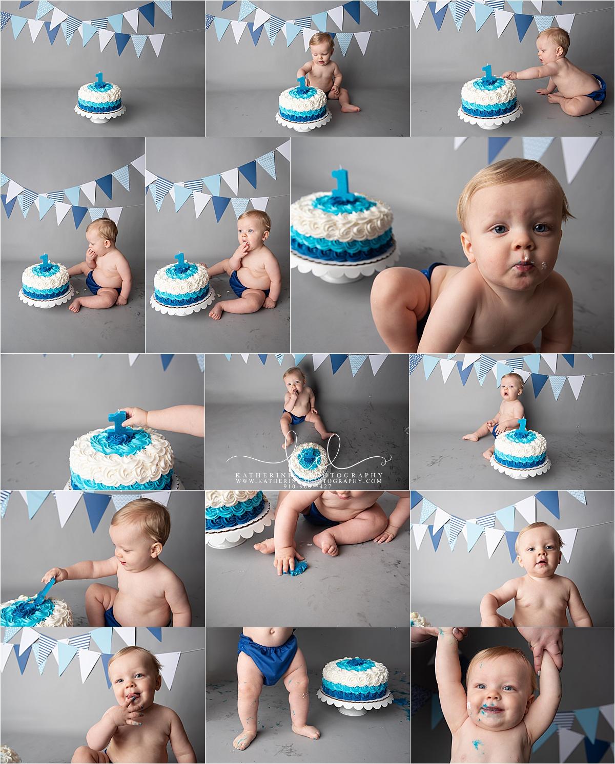 Fayetteville NC Cake Smash Photography