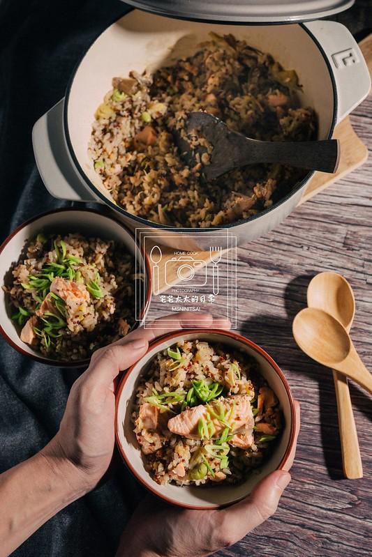 宅宅太太的日常,鮭魚藜麥炊飯 @陳小可的吃喝玩樂