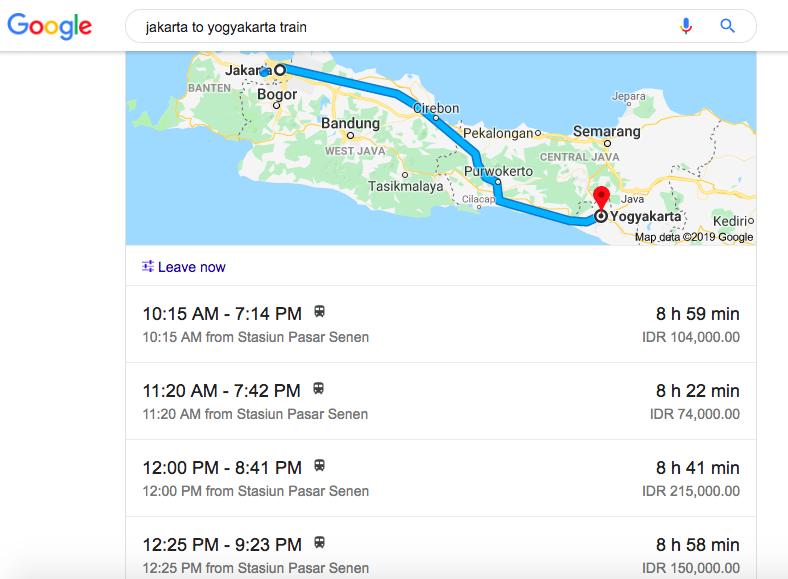 Train Jakarta to Yogyakarta