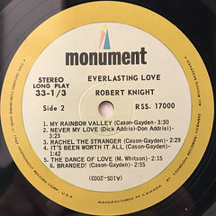 ROBERT KNIGHT:EVERLASTING LOVE(LABEL SIDE-B)