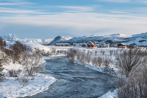 River landscape on Vestvågøya, Lofoten