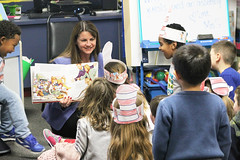 Rep. Carpino participates in Read Across America.