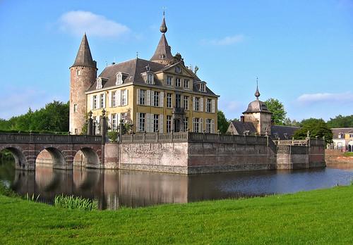 The wonderfully romantic Gravenwezel Castle, locally known as Kasteel 's-Gravenwezel, near Antwerp, Belgium.