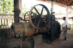 Old steam engine, Roça Porto Real, Principe Island, São Tomé e Principe