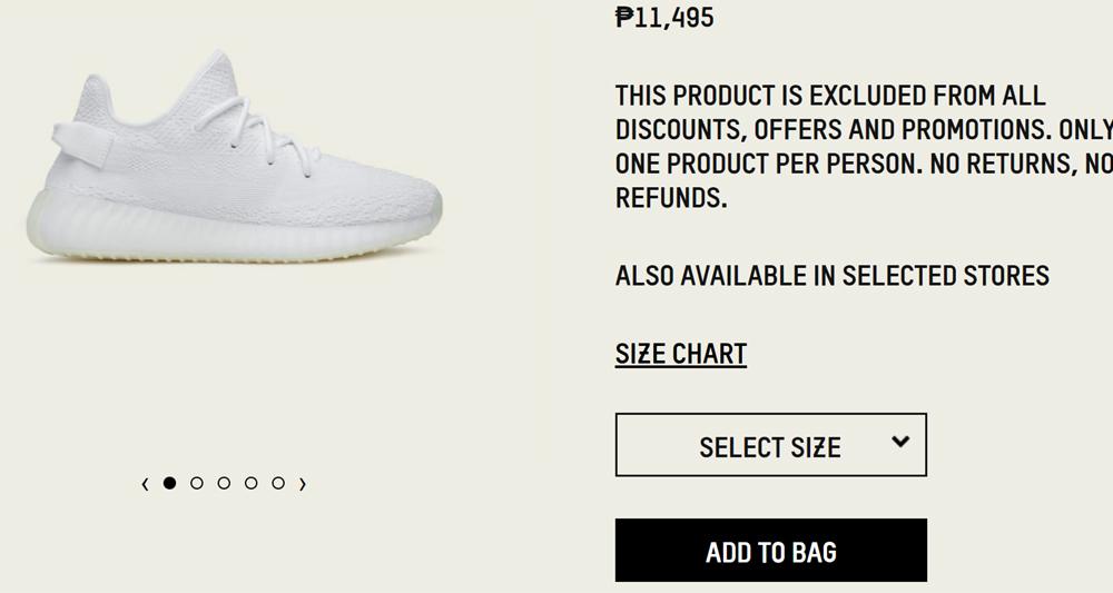 Adidas Yeezy Bost 350 V2 Triple White