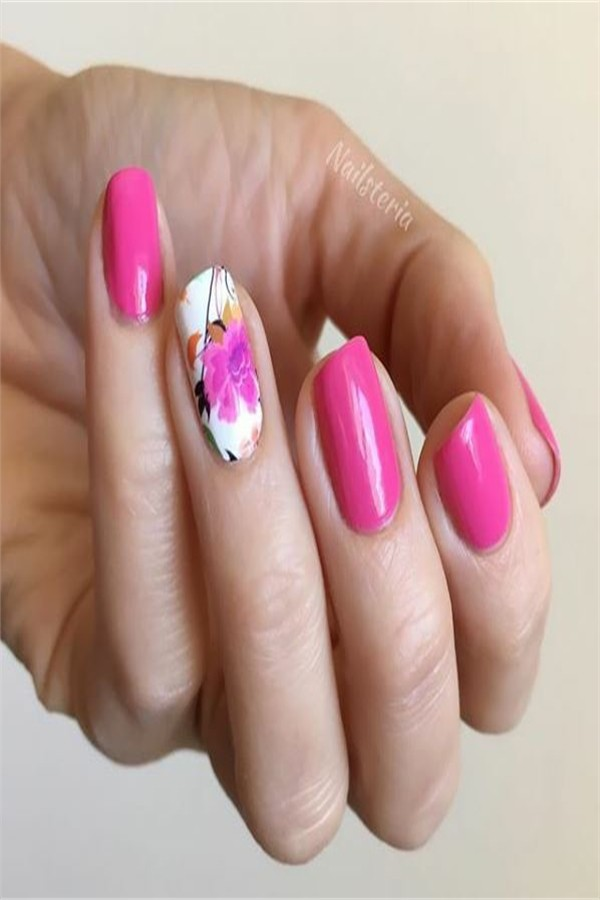 33 Pretty designs for Pink nails that you will love #nail_art_designs #winter_nails #pink_nails #Valentine_nails